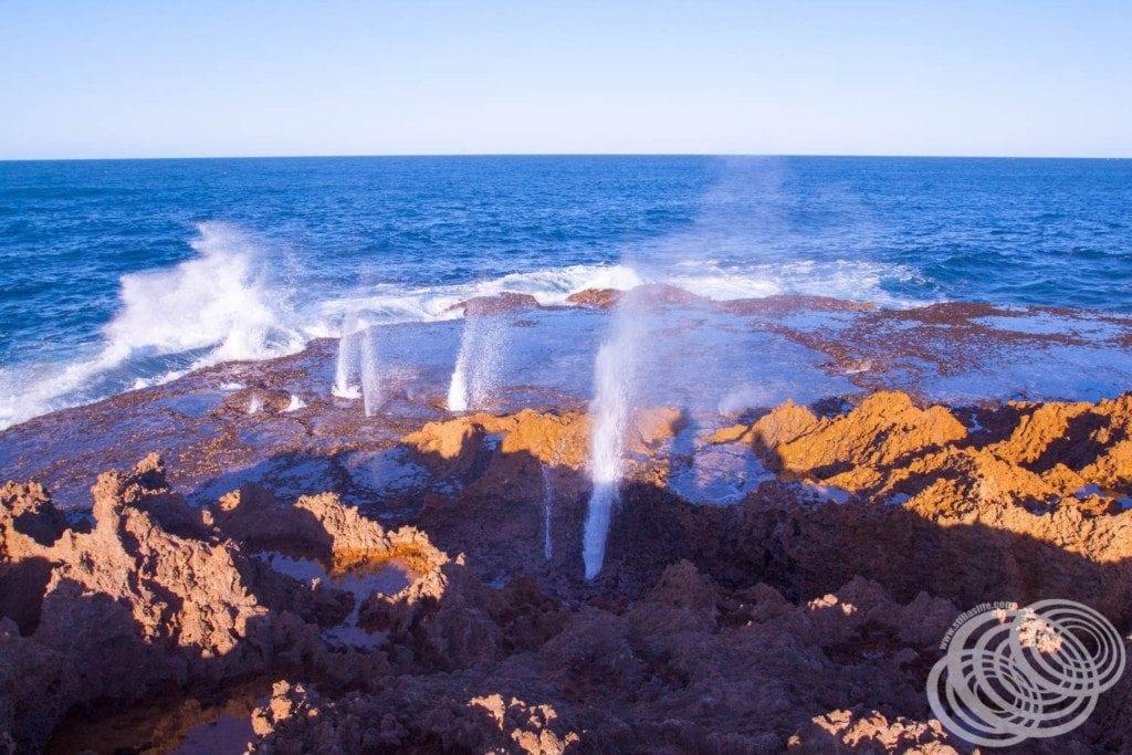 The Quobba Blowholes north of Carnarvon, Western Australia.