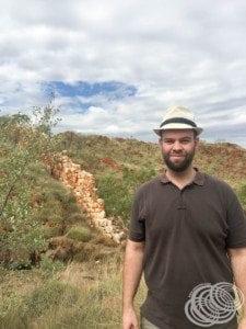 Matt at the Halls Creek China Wall