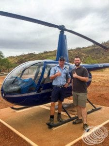Matt with our helicopter pilot, Luke