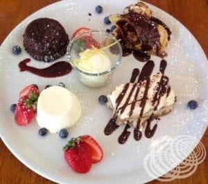 Blu Water Grill Dessert Sampler Plate