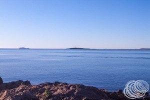 Looking to Jarman Island from Honeymoon Cove