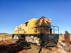 The old Robe mining locomotive at Wickham