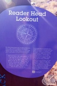 Reader Head Lookout Sign