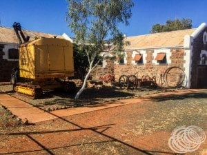 The prison yard at Roebourne Info Centre