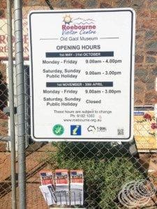 Roebourne Visitor Centre & Museum Opening Hours