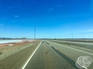 On the Dampier Highway between the salt flats