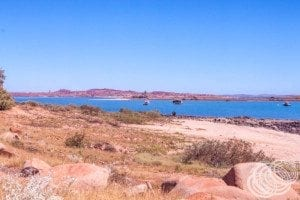 Looking from Dampier towards some of the nearby islands