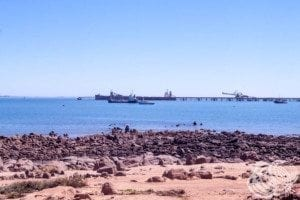 Looking to the Dampier port from the Esplanade