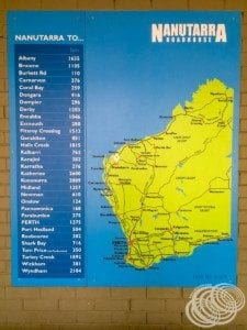 Nanutarra Location Map