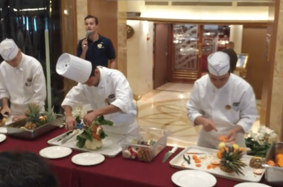 Food Carving Demonstration On Dawn Princess – Sydney To Tasmania