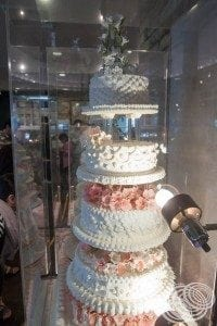 One of the beautiful cakes on display