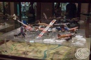Tin toy plane collection