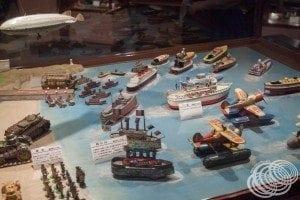 Tin toy ship collection