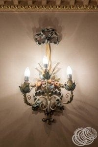 One of the detailed wall sconces