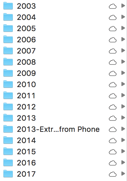 ExpanDrive 6's new icons to represent files in the cloud.