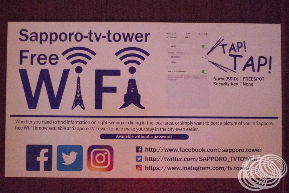 Sapporo TV Tower Wifi gratis Detalles