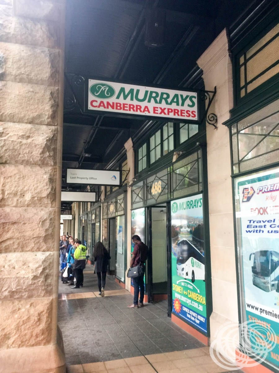 Murrays Coaches Office at Central Station on Pitt St