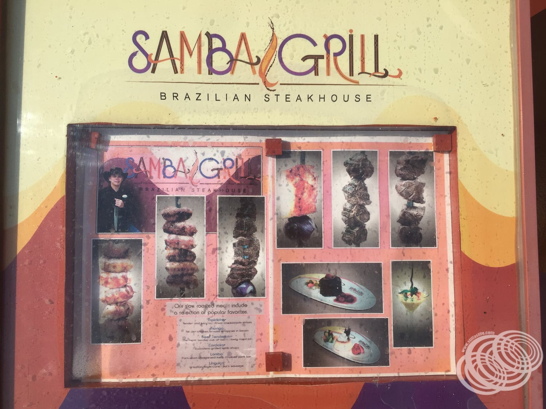 Samba Grill Menu Board