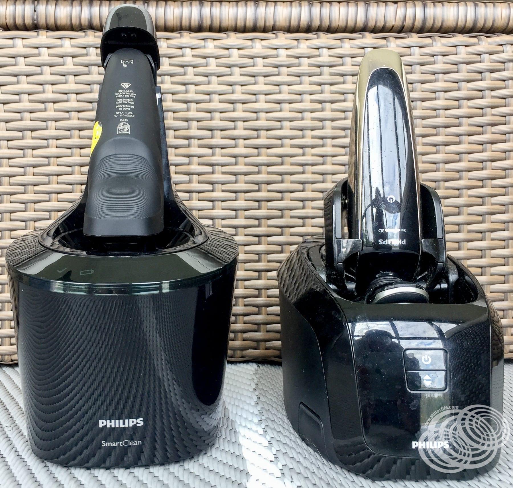 Comparación de altura más limpia con máquinas de afeitar en su lugar.