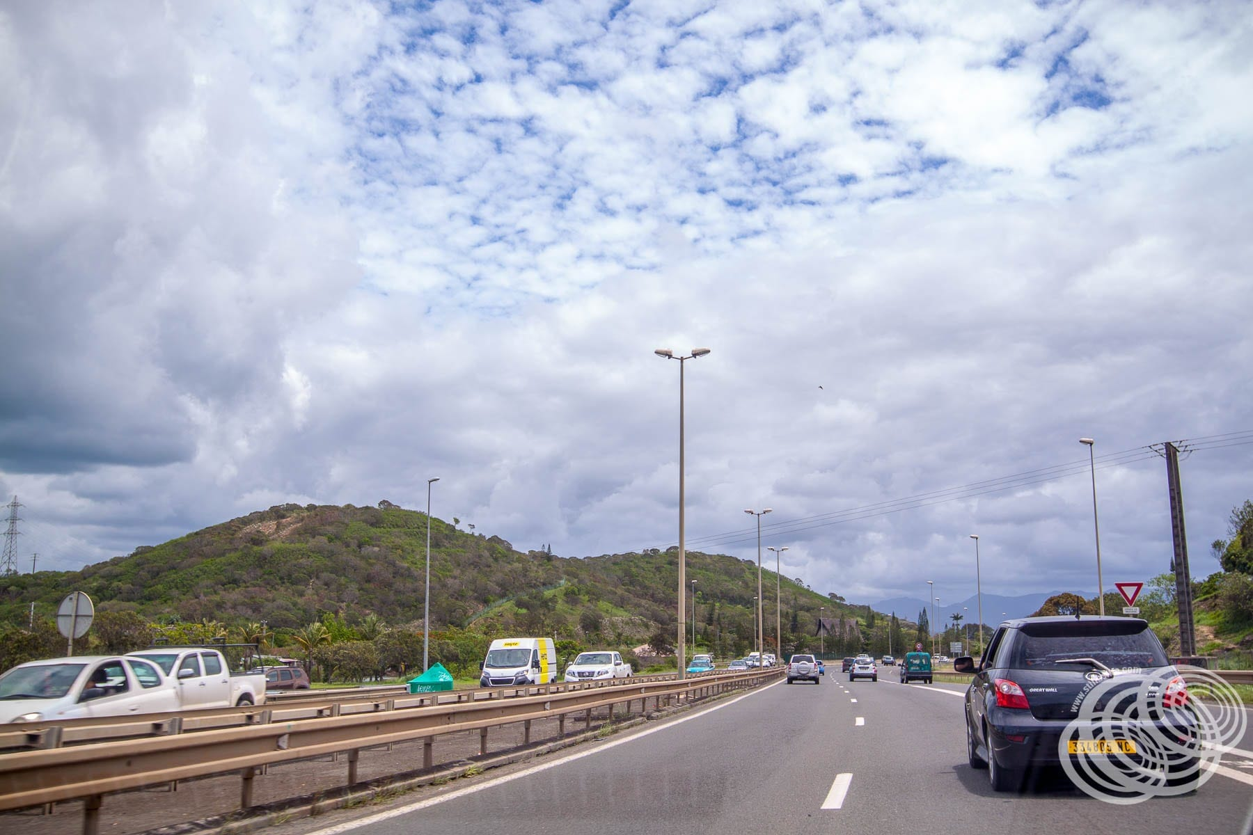 Driving out of Noumea
