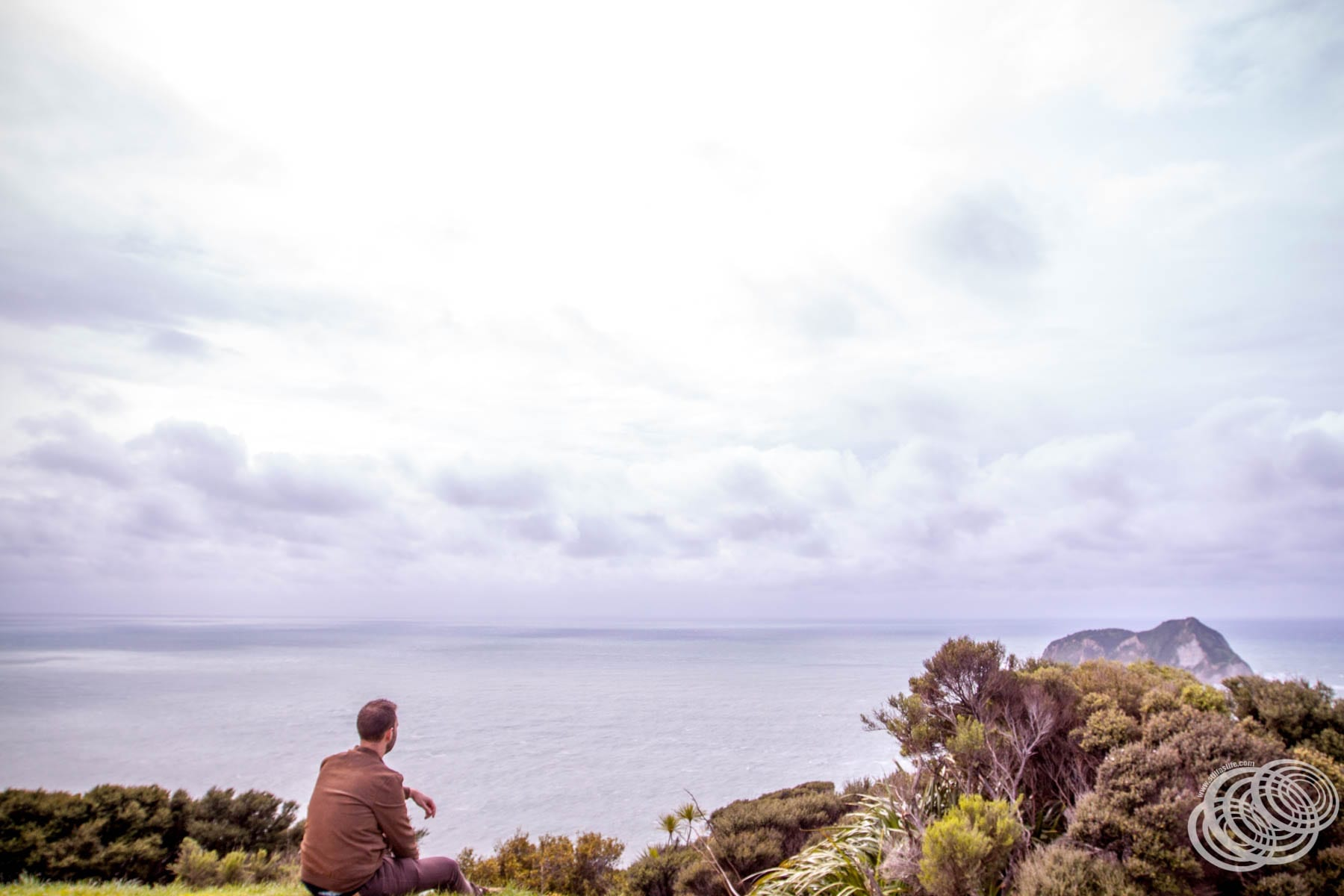 The view to East Island from East Cape Lighthouse