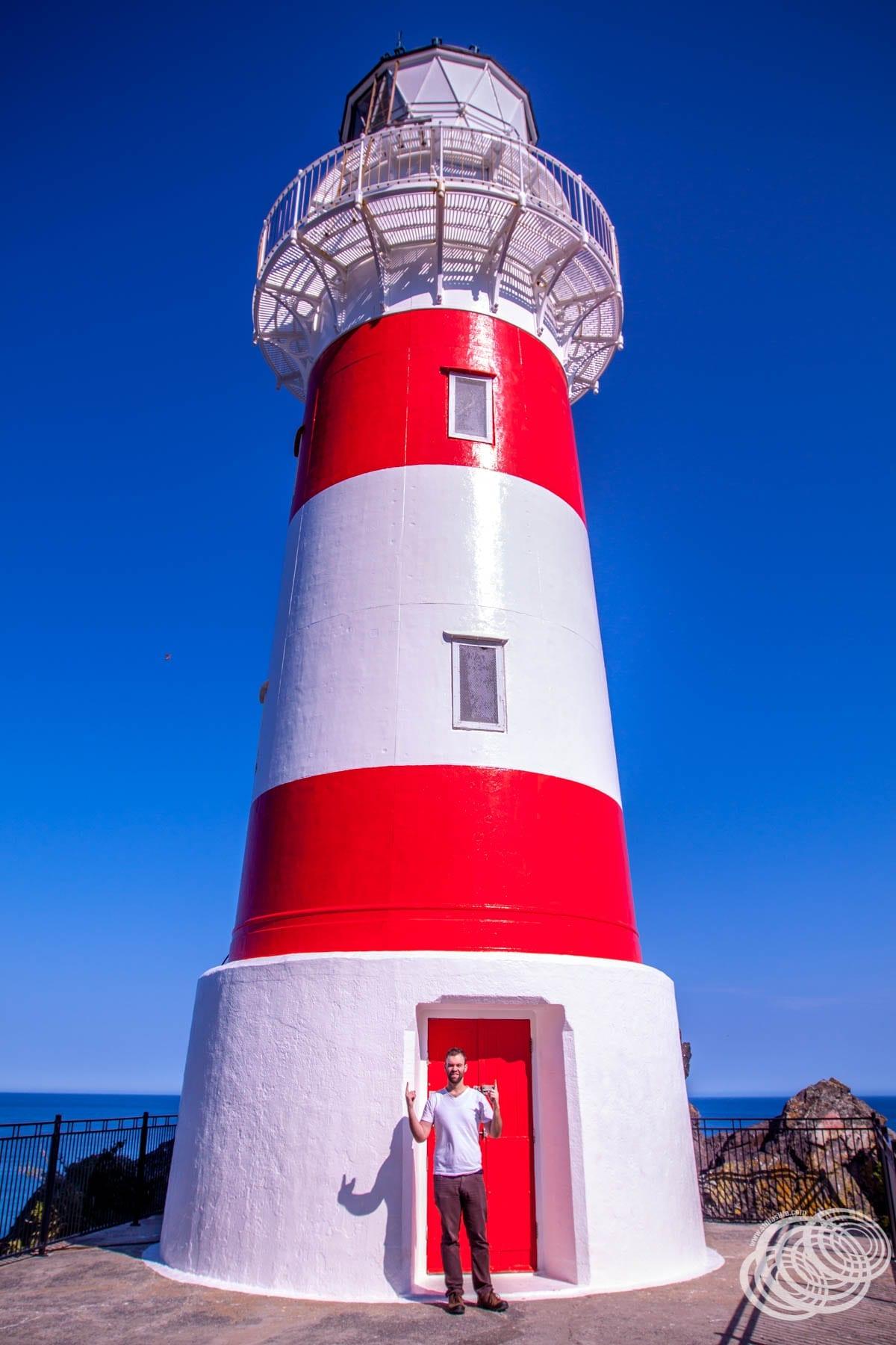 Matt at Cape Palliser Lighthouse