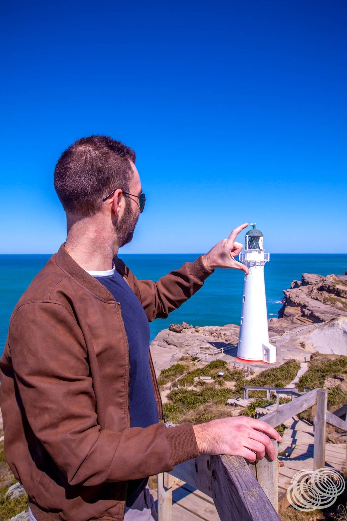 Matt at Castlepoint Lighthouse