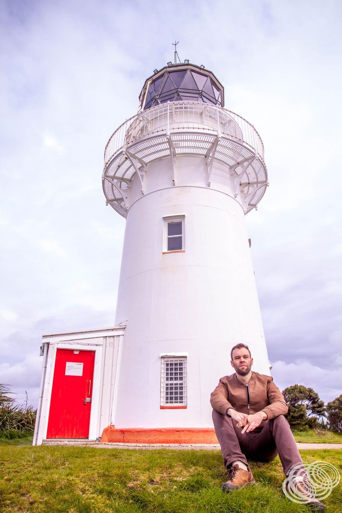 Matt at East Cape Lighthouse
