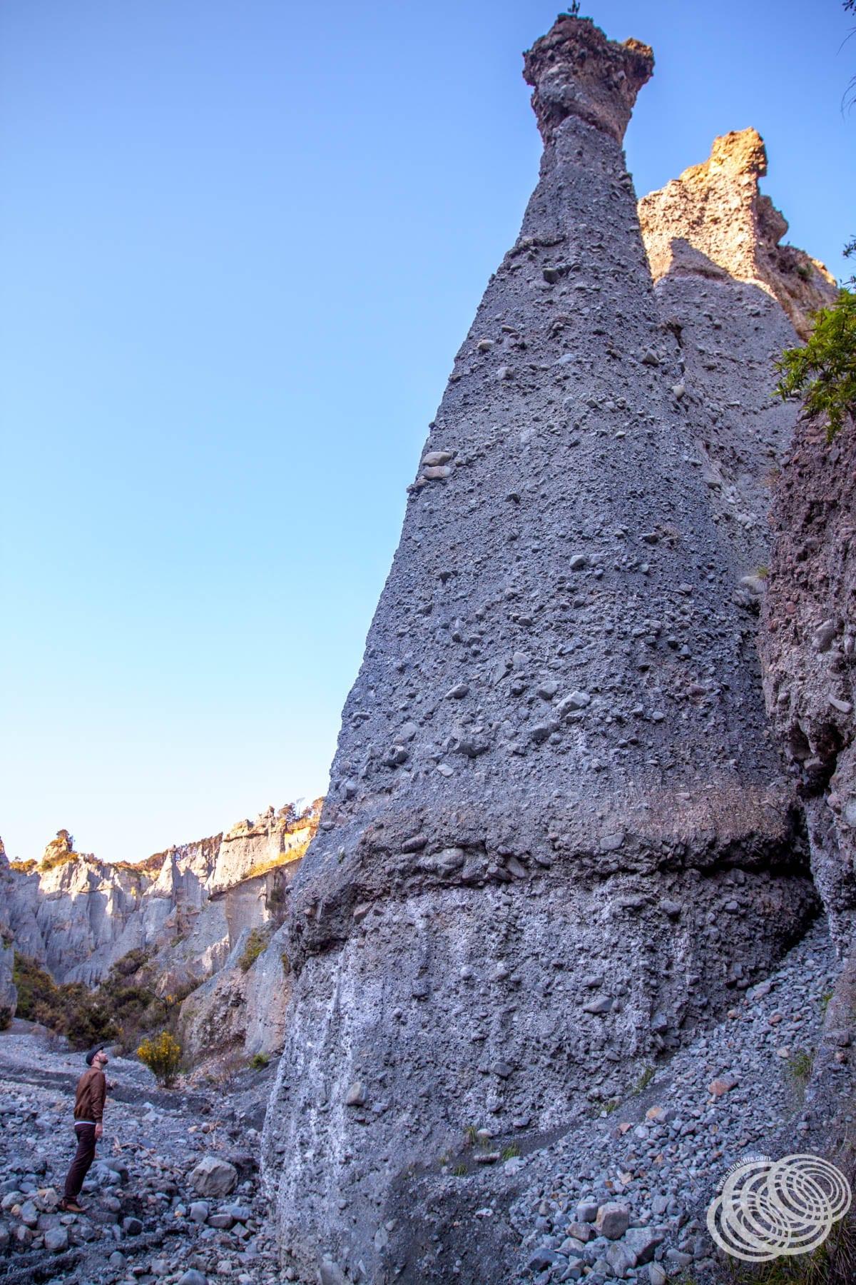 Matt at the Putangirua Pinnacles