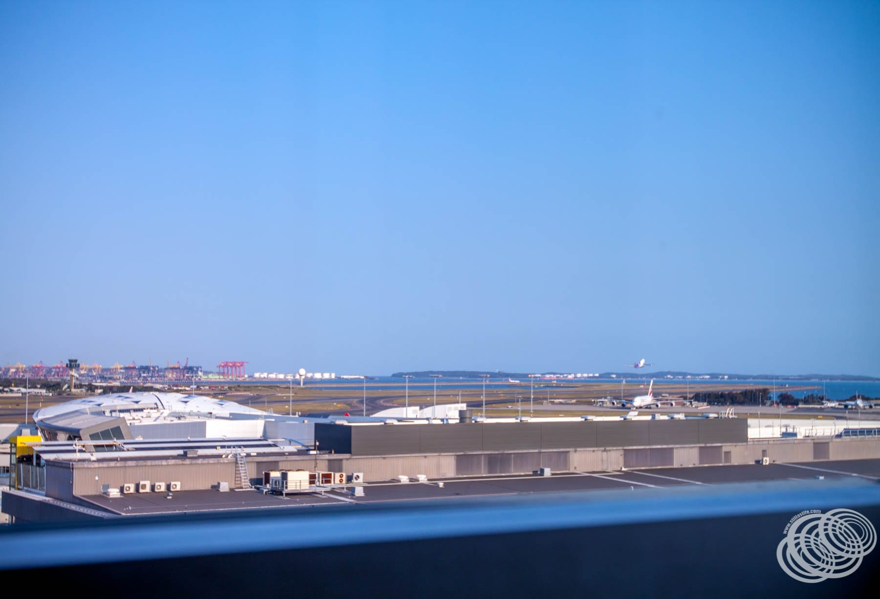 Sydney Airport view from our room