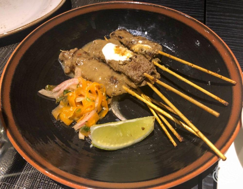 Coriander Turmeric Beef Satays at Dragon Lady