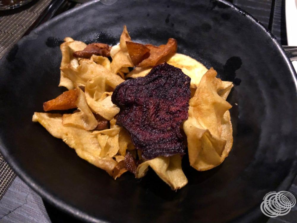 Kumera, Beetroot and Plantain Chips at Dragon Lady on P&O Pacific Explorer