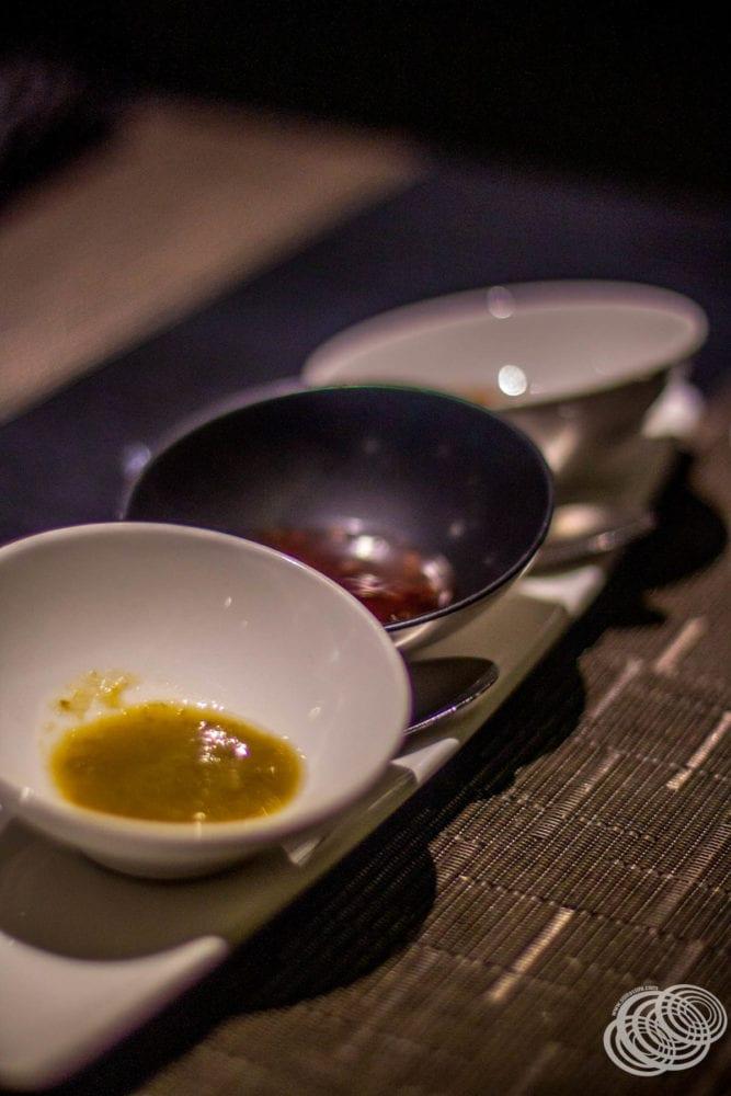 Salsa de mesa en el restaurante Dragon Lady en P&O