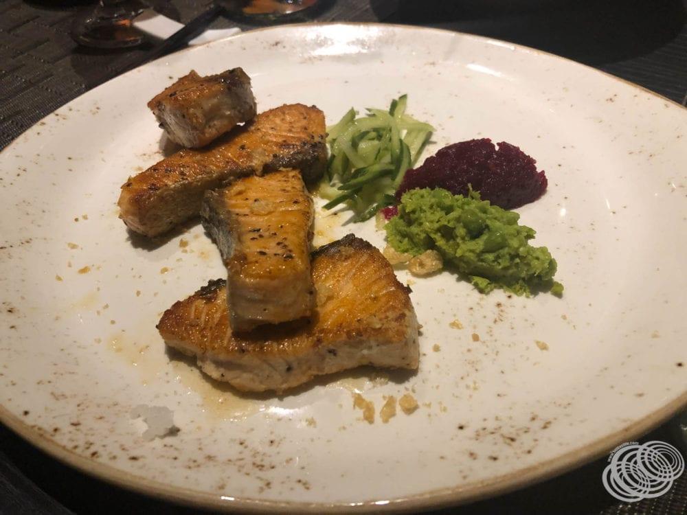 Szechuan Blackened Salmon at Dragon Lady