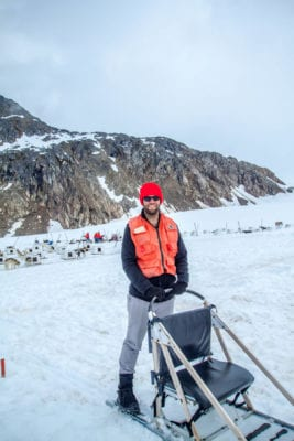 Perro de trineo Mushing en Skagway, Alaska