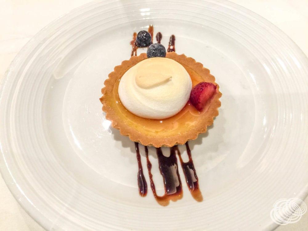 Royal Caribbean Truffle Menu - Passionfruit Meringue Tart