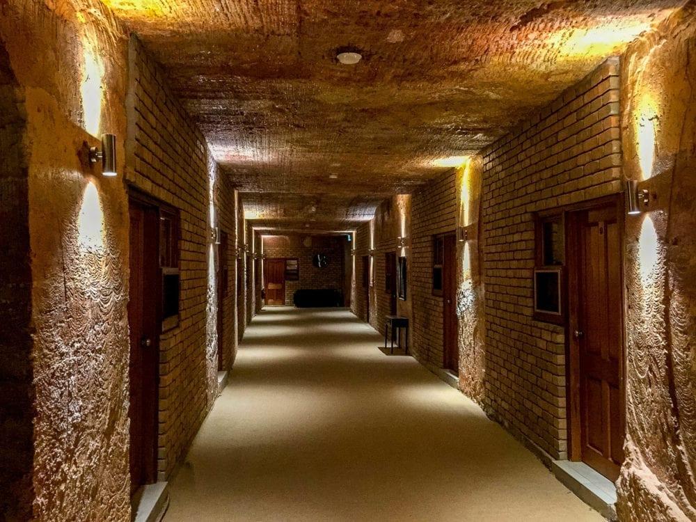 Coober Pedy Lookout Cave Underground Motel Hallway