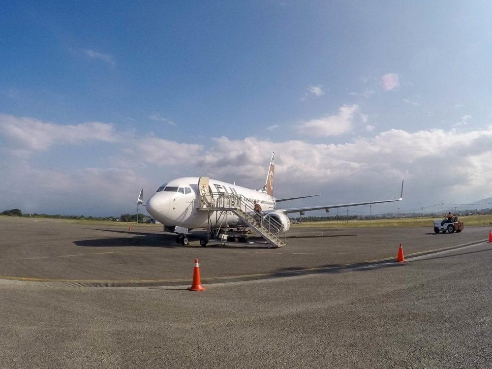 Fiji Airways Plane in Honiara