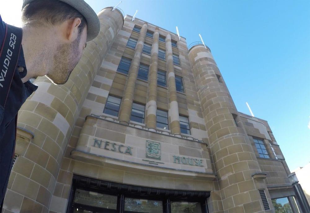 Matt Outside NESCA House