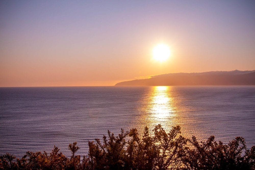 The sunset towards Wellington from Cape Palliser