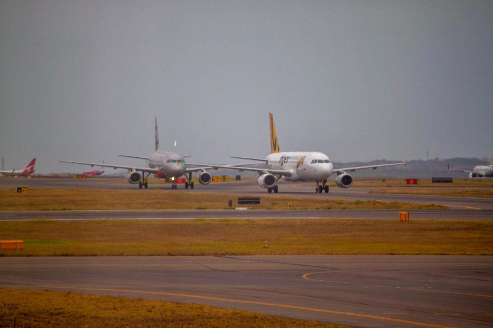 Tiger Air and Jetstar Taxiing