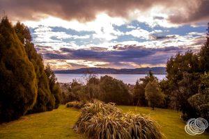 Sunset from Waipahihi Botanic Gardens
